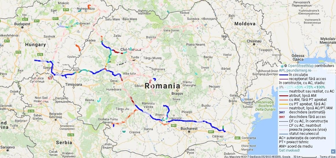Harta Autostrăzilor Pe Care Nu Le Avem Www Actualdecluj Ro