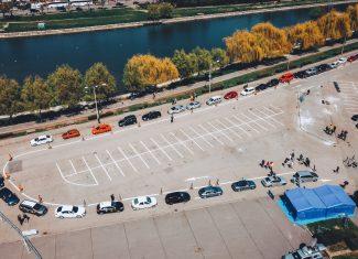 Așa arăta centrul drive-through în prima zi / foto Instituția Prefectului Cluj