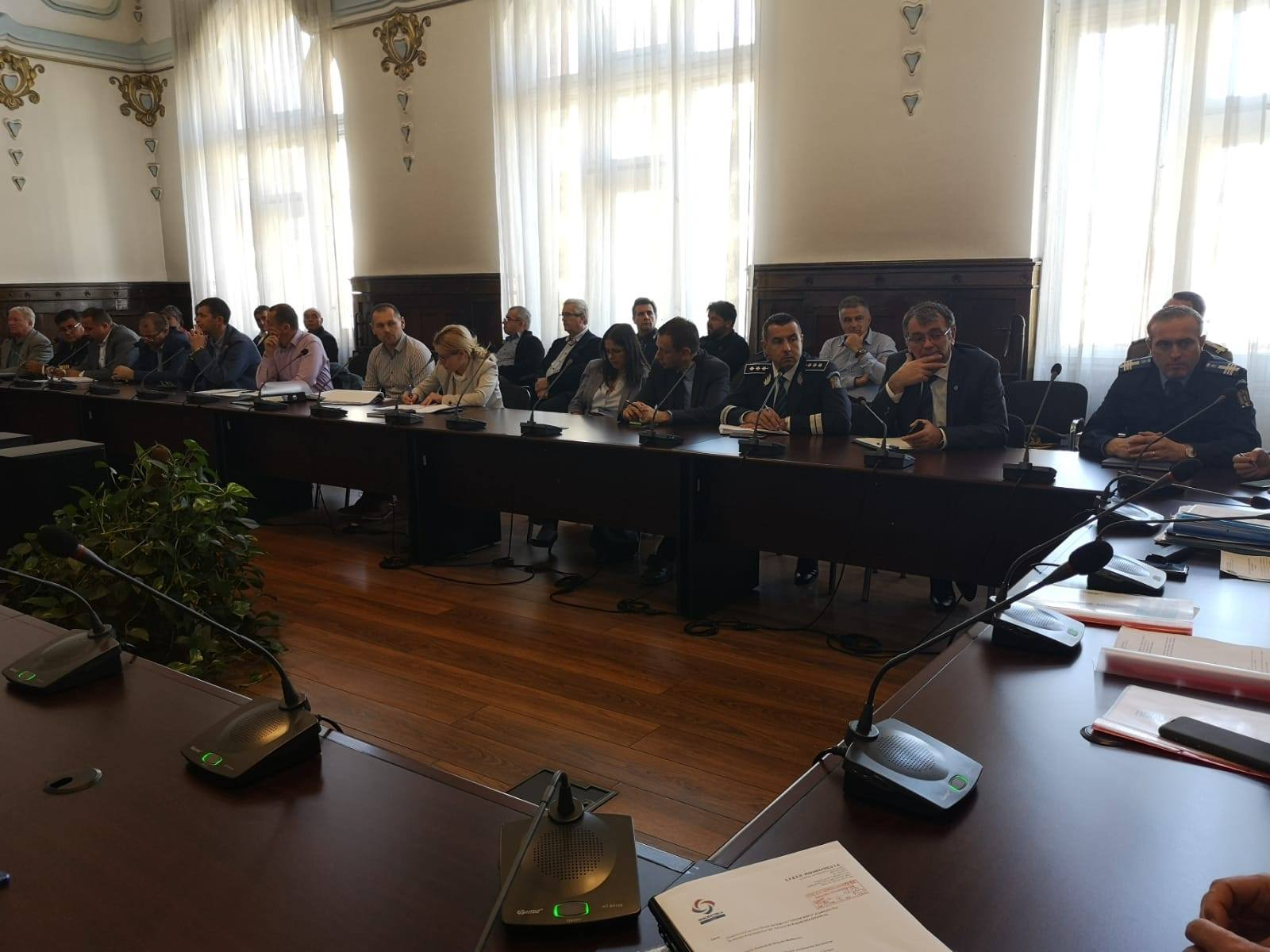 ședință CJSU în 2019 / sursa foto Instituția Prefectului Cluj
