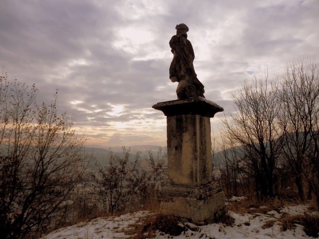 Această statuie are aproape 300 ani vechime. /foto Radu Bulubaşă / panoramio.com