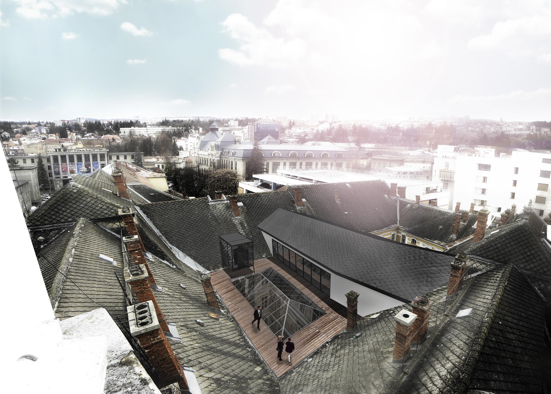 Foto: K&K Promenadă pe acoperișul primăriei