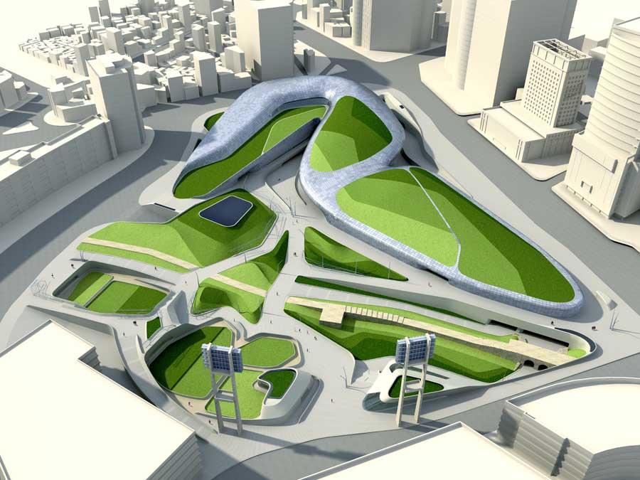 Sursa Foto: http://www.e-architect.co.uk/korea/dongdaemun-design-plaza