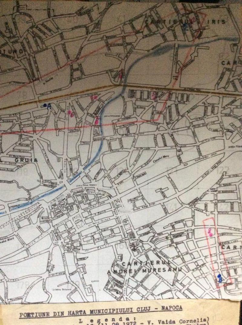 Harta anchetatorilor cu zonele crimelor