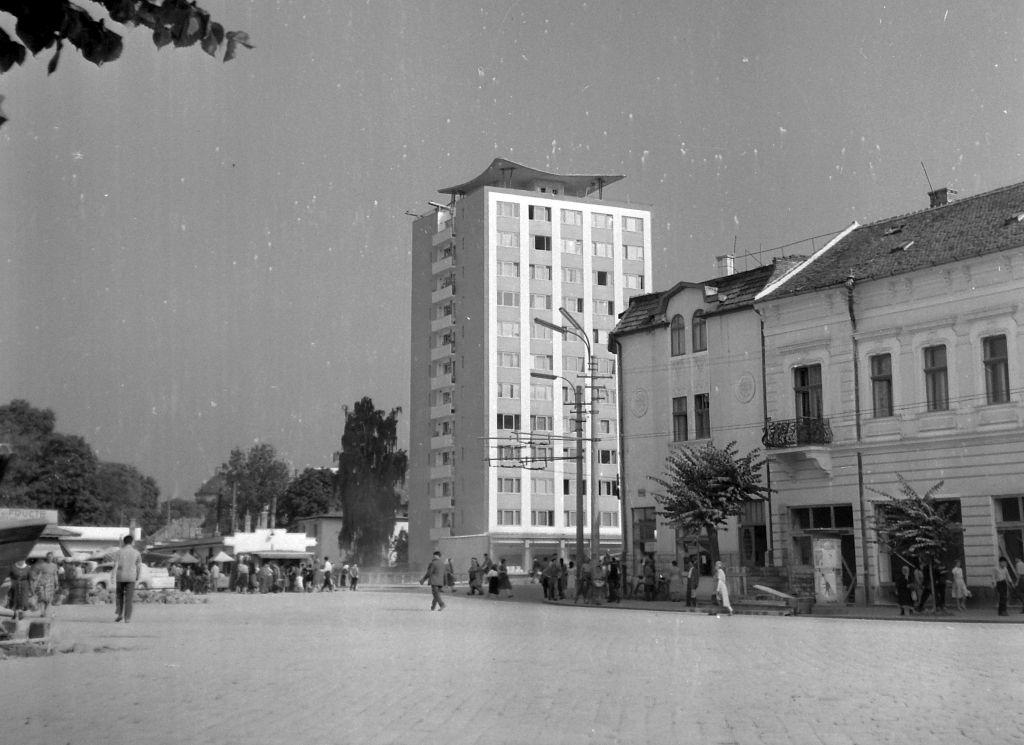 Așa arăta blocul-turn în 1959 / foto Balazs Palfi