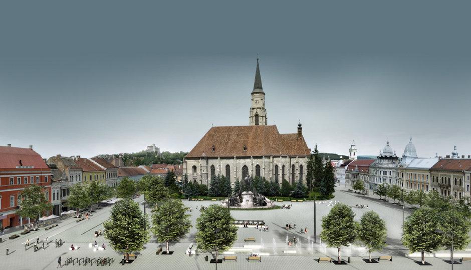 Piata Unirii - vedere de ansamblu in proiectul Planwerk