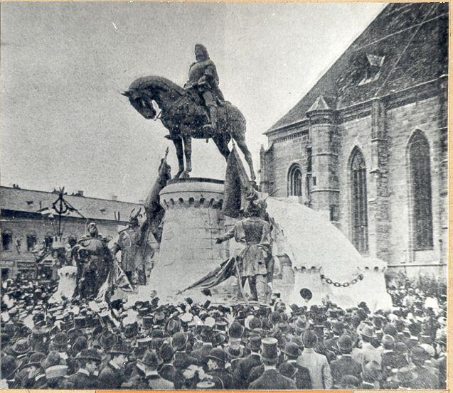 matei corvin dezvelirea statuii 1902