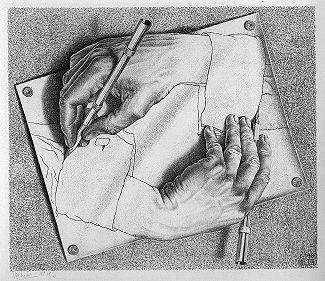 Escher. Sursa foto: https://en.wikipedia.org/w/index.php?curid=3475111