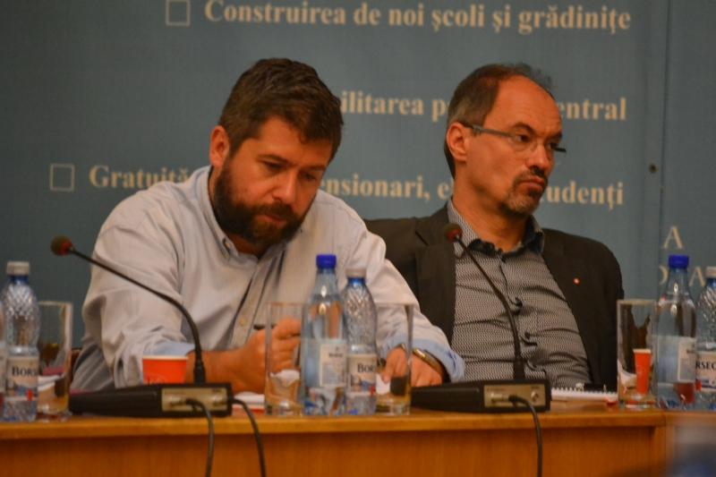 Arhitecții Șerban Țigănaș și Eugen Pănescu